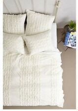 Anthropologie THAYET JERSEY Collection Quilt, Standard & Euro Shams IVORY Set