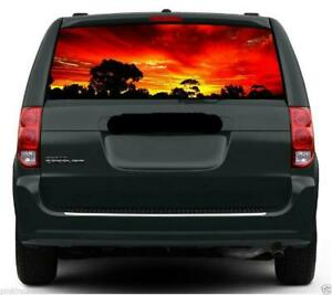 Australian Sunset Car or Caravan Rear Window Vehicle Graphic Sticker / Decal