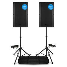 More details for vsa12 pair active pa speakers bi-amp 12