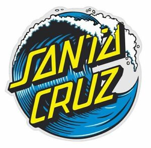 Sticker Plastifié SANTA CRUZ - modèle Wave