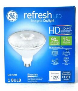 1 Count GE Refresh LED PAR38 Energetic Daylight HD Light 15w 1200 Lumens Bulb