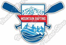 "Rafting  River Raft Mountain Whitewater Car Bumper Vinyl Sticker Decal 5""X4"""