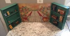 VINTAGE WOLVERINE 1930  TIN TOY LITHO GROCERY STORE WITH 13 FOOD Acceories