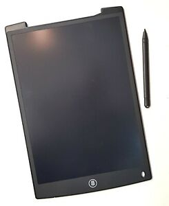 """Black 12"""" LCD Writing Tablet with Pen Drawing Board Art Craft Adult Kids"""