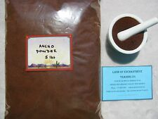 NEW MEXICO PURE ANCHO CHILE POWDER  5 POUNDS  Fresh!!  *Free Shipping for USA*