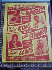 EARL KING & OTHERS RARE PROMO CONCERT FLYER  BOXING STYLE R&B POSTER TEXAS