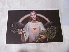Cartolina Buona Pasqua Barberis Il Cuore di Gesù intonsa (ZU309) ^