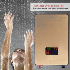 6500W Chauffe-eau Électrique Instantané Chauffe Eau Digital Cusine Douche Lavage