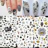 Halloween 3D Nail Stickers Pumpkin Skull Pattern Nail Art Transfer Decals Tips