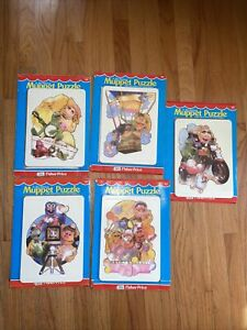Vintage Fisher Price The Muppets Wood Puzzles 1981 Plastic Tray RARE Collection