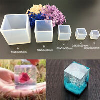 DIY Silicone Pendant Mold Jewelry Making Cube Resin Casting Mould Craft Tool BS