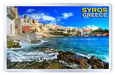 SYROS GREECE FRIDGE MAGNET SOUVENIR IMAN NEVERA