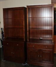 Pair of Ethan Allen Classic Kids Bookcase Wall Unit Chocolate  #369422/30#294