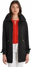 Zip Front Packable RAIN with Bow Detail Black