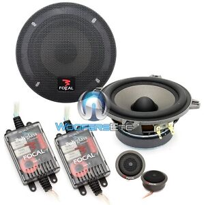 "FOCAL 130VB CAR AUDIO 5.25"" POLYGLASS 2-WAY COMPONENT SPEAKERS MIDS TWEETERS NEW"