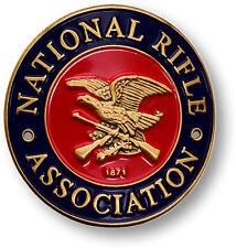 NRA Hiking Stick Medallion National Rifle Association Walking Staff Medal Tag