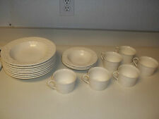 Mikasa English Country Side White ~ 17 Piece Set ~ Bowls & Cups