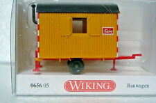 Wiking 64605 HO 1/87 Bauwagen Job Site Construction Trailer NIB C-9