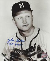 1957 BRAVES John DeMerit signed 8x10 photo w/ '57 Braves AUTO Autographed Milw