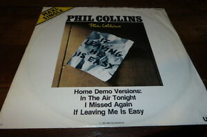 "PHIL COLLINS HOME DEMO VERSIONS - Vinyle Maxi 45 tours / 12"" !!! 79226 !! LIMITE"