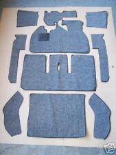 VOLKSWAGEN SUPER BEETLE SEDAN 71-79  BLACK LOOP CARPET KIT