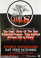 The Used / Killswitch Engaged / Rise Against 2004 Australian Concert Tour Poster