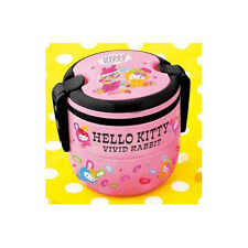 Hello Kitty Vivid Rabbit 2-tier Bento Box Pink Anime Manga NEW