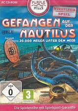 PC CD-ROM + Gefangen auf der Nautilus + Wimmelbild + Minispiele + Win 7 +