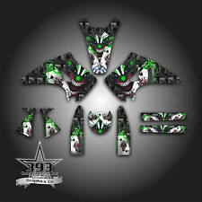 KAWASAKI KX 125 KX 250 2003 - 2008 GRAPHICS KIT DECALS EVIL JOKER BLACK GREEN