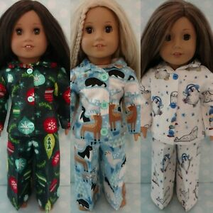 """18"""" Doll Christmas Pajamas fits 18 inch American Girl Doll Clothes c408abc"""