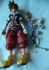Square Enix Kingdom Hearts 2 Sora Play Arts Kai Action Special Red Figure No Box