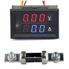 DC 0-200V 200A + Shunt Voltage Current Panel Meter Digital LED Voltmeter Ammeter
