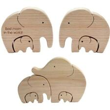 Elephant Mother And Child—Mother's Day Gift Elephant Wooden Decoration Ornament