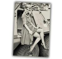 "War Photo Pin Up Girl Retro Vintage WW2 Glossy Size ""4 x 6"" inch O"