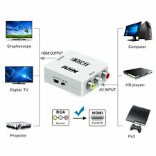 AV2HDMI Upscaler AV RCA to HDMI Video Converter Adapter 1080P TV PS2 DV Mini Box