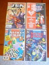 COMIC BOOK LOT OF (4) DC JUSTICE LEAGUE BAGGED & BOARDED SUPERMAN IS DEAD