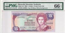 1989 Bermuda 5 Dollars P-35b S/N B/2 000353 PMG 66 EPQ Gem UNC