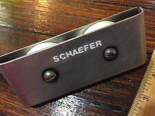 "SCHAEFER DOUBLE 2"" SHEAVE DECK ORGANIZER 7/16"" LINE MODEL 504-80 (DK)"