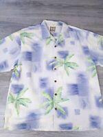 Tommy Bahama Shirt Size XL Hawaiian Silk Floral Aloha Short Sleeve Button Down