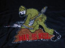 "VIETNAM PATCH ""IN COUNTRY"", ORIGINAL 1968, 7""x6 1/2"" ""WAR IS H@LL"" COLLECTABLE!"