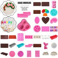 Silicone Cake Decor Moulds DIY Ice Tray Candy Cookie Chocolate Baking Tool UK