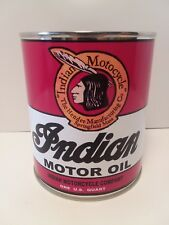 Indian Motorcycle Retro Oil Can 1 qt. -  ( Reproduction Tin Collectible )