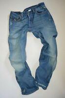 unworn mens LEVI'S 501 JEANS W34 L30 patina vintage fade straight leg destroyed