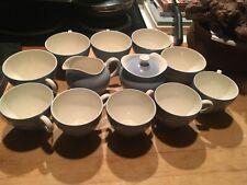 13 pc Vintage Wedgwood Summer Sky Blue Coffee Tea Set Sugar Creamer Cups Nice!