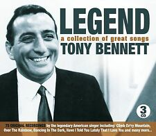 LEGEND TONY BENNETT A COLLECTION OF GREAT SONGS, 3 CD BOX SET SMILE, TILL & MORE