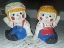 Vintage Plastic Hong Kong Raggedy Ann & Andy Salt and Pepper Shakers