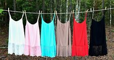 Lace Extender Top 4X 3X 2X 1X Camisole Plus Size Pink White Ivory Black RED Moca