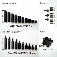 M3 M4 Nylon Hex Abstandshalter Distanzbolzen Sechskant Schraube Muttern