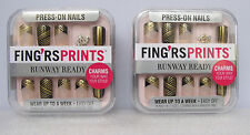 2 Pack Press -On Nails Walk This Way ~Wear Up To A Week child or small nail bed