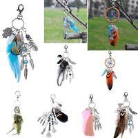 Feather Tassel Dreamcatcher Dream Catcher Pendant Keyring Keychain Key Chain